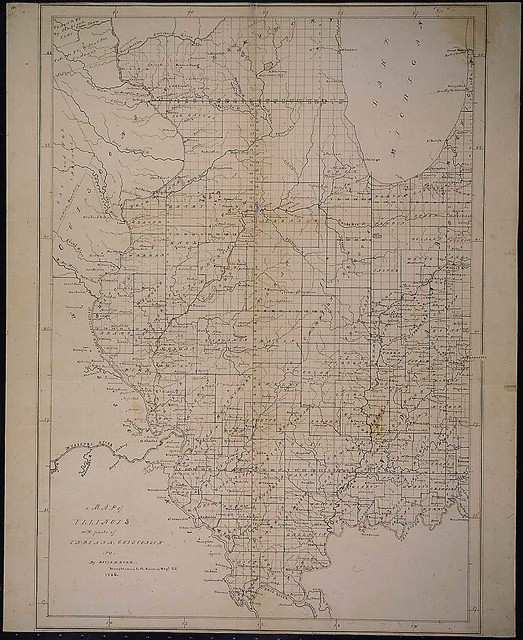 A map of Illinois