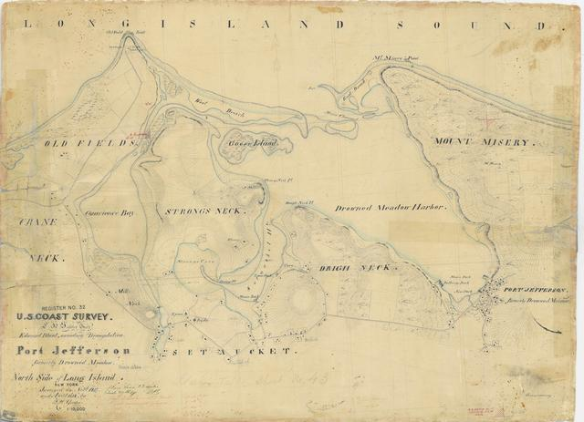 Chart of Port Jefferson, Formerly Drownded Meadow, North Side of Long Island, New York