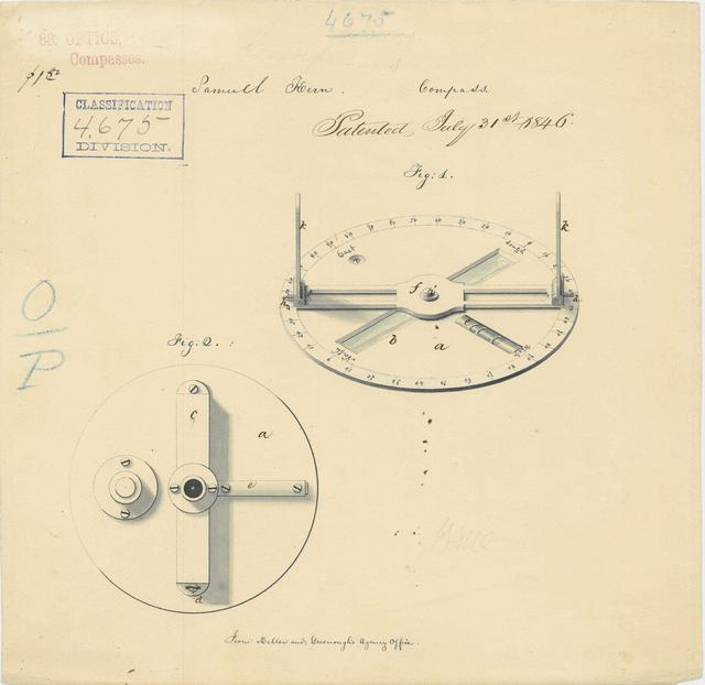 Drawing of a Surveyor's Compass