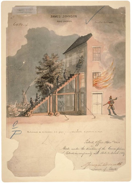 Drawing of Fire Ladder