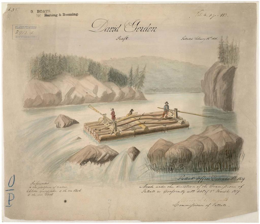 Drawing of Raft