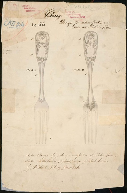 Drawing of Design for Silver Forks
