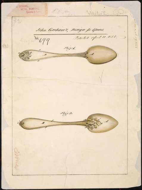 Drawing of Design for Spoons