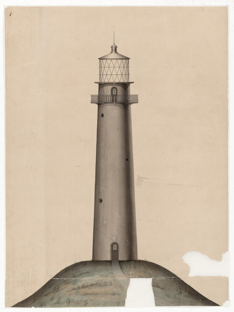Elevation Drawing for the Lighthouse at Jupiter Inlet, Florida