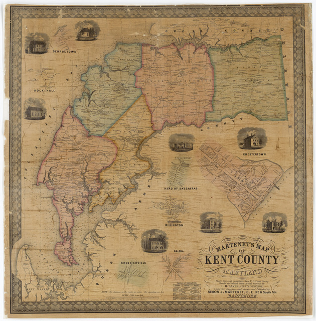 Martenet's Map of Kent County, Maryland