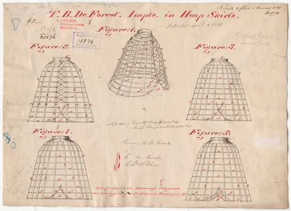 Drawing of Improvements in Hoop Skirts