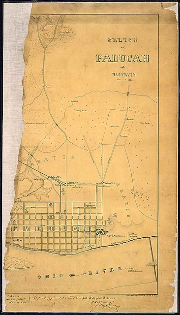 Sketch of Paducah and Vicinity. [By] John Rziha, Captain, 19th Inf., U.S. Army.