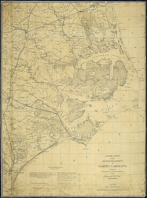 Eastern Portion of the Military Department of North Carolina Compiled from the best and latest authorities in the Bureau of Topl. Engrs., War Department, May 1862.