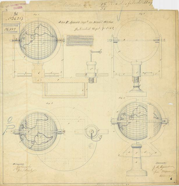 Drawing of an Improvement in School Globes