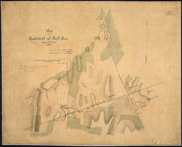Map of the Battlefield of Bull Run, August 29th & 30th, 1862. Surveyed by order of Maj. Gen. Sigel and under direction of Maj. Kappner by G. Stengel and U. de Fonvielle...November 1862.