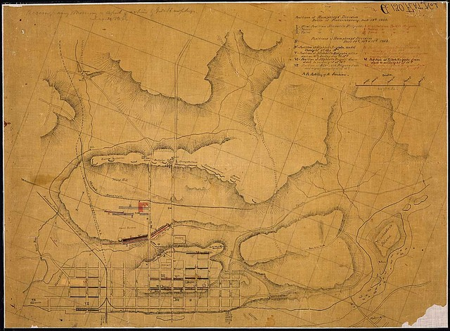 Positions of Humphreys' Division, Battle of Fredericksburg, Decr. 13th...[and] Decr. 14th, 15th & 16th, 1862.