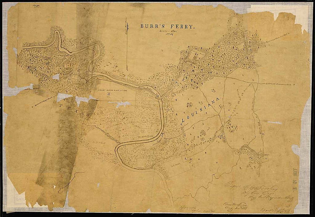 Burr's Ferry [and vicinity, Sabine River, Louisana and Texas.]