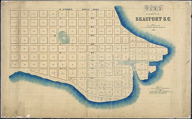 Plan of the City of Beaufort, S.C., as allotted by U.S. Tax Commissioners for the District of South Carolina, February 1863