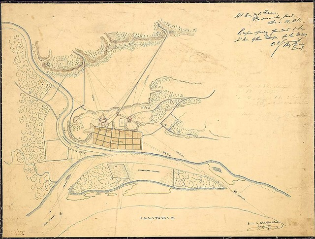 [Sketch map of Smithland and vicinity] Drawn by U. G. Scheller [?] Engineer.