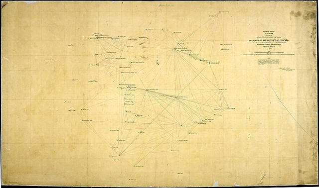 Sketch showing the triangulation of the principal Defenses of the District of Columbia executed under the general direction of Col. J. N. Macomb, U. S. Topl. Engrs., by Charles A. Schott, Asst., U. S. Coast Survey, January to May 1863.