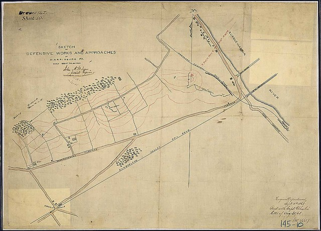 Sketch of Defensive Works and Approaches at Harrisburg, Pa