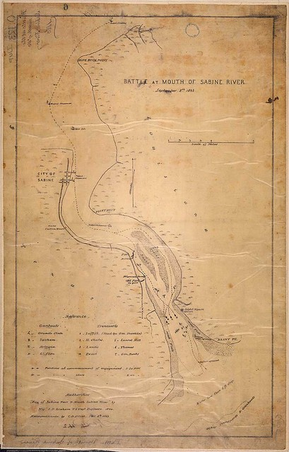 Battle of Mouth of Sabine River, September 8th, 1863.