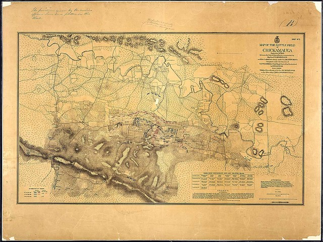 Sheet No. 2. Map of te Battle Field of Chickamauga, September 20th, 1863...