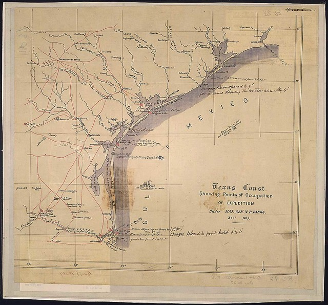 Texas Coast Showing Points of Occupation of Expedition Under Maj. Gen. N. P. Banks, Novr. 1863.