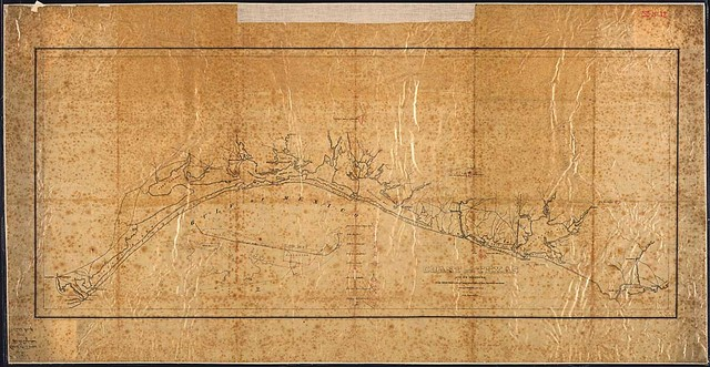 Coast of Texas and Its Defences. Capt. Tipton Walker, Chief of Topo-Bureau of Texas, New Mexico, and Arizona, drawn by P. Helferich, Asst. Engr., 1864.