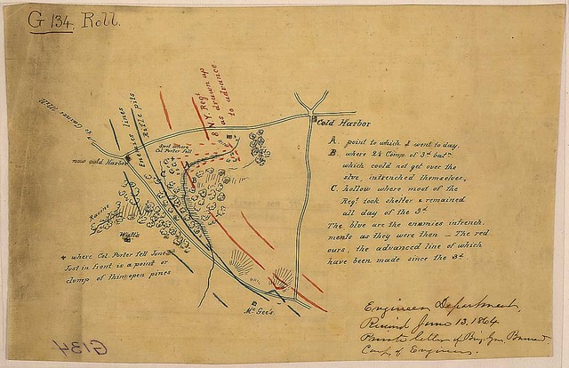 [Sketch of action near New Cold Harbor, Va.]