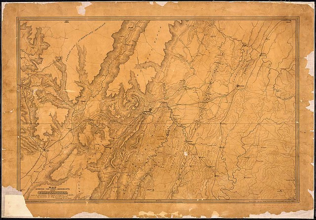 Map Showing the Army Movements around Chattanooga, made to accompany the Report of Maj. Genl. U. S. Grant, by direction of Brig. Genl. Wm. F. Smith, Chief Engr., Mil. Div. Miss. [Surveyed] and drawn by H. Riemann, 44th Ills. Vols. [and dated] Topogr. Engr. Office, Hd. Qrs., Army of the Cumbd., Chattanooga, Jan. 4th, 1864.