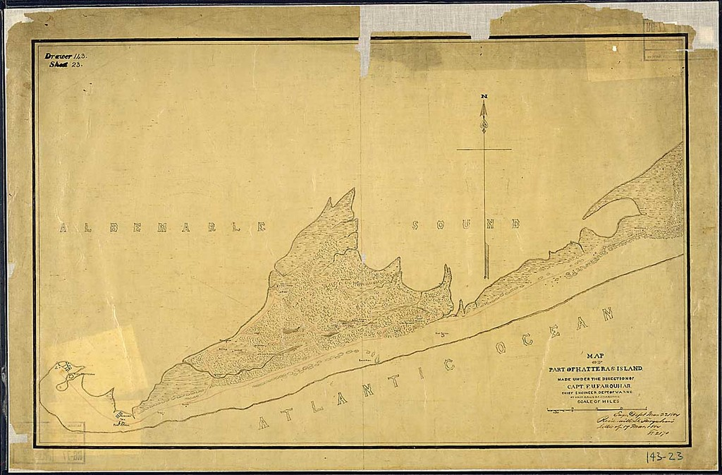 Map of Part of Hatteras Island. Made under the Direction of Capt. F. U. Farquhar, Chief Engineer, Dept. of Va. & N.C., by Solon M. Allis, Co. K., 27th Mass. Vols.