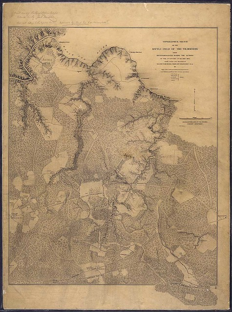Topographical Sketch of the Battle Field of the Wilderness from Reconnoissances During the Actions of the 5th, 6th, and 7th of May 1864, made under the direction of Major N. Michler, Corps of Engineers, U.S.A., by Major John E. Weyss, U.S. Vols., Principal Assistant, Capt. W. H. Paine, Additional Aide de Camp & Assistant...""