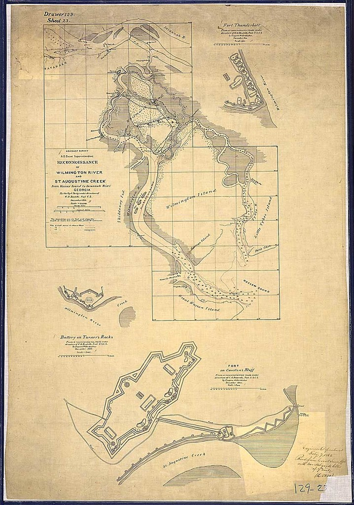 Reconnoissance Of Wilmington River And St Augustine Creek From