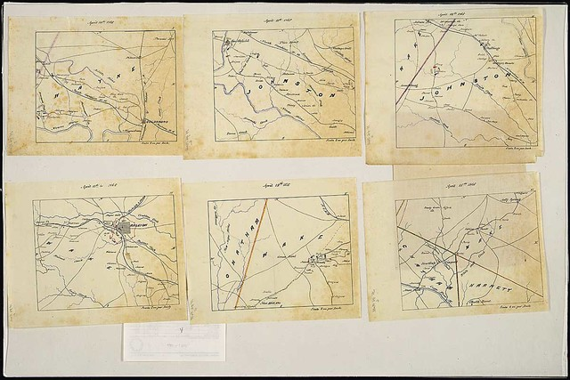 Campaign Maps Exhibiting the...Line of March of The Army of Georgia From Goldsboro, N.C., to Avens Bridge, N.C., From Surveys, Topographical Engineers, Army of Georgia...1865.