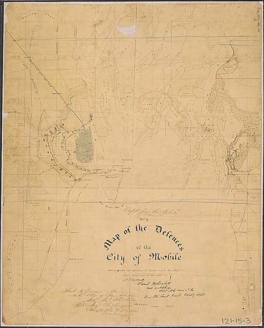 No. 4. Map of the Defences of the City of Mobile. Drawn under the direction of Lieut. Col. V. Sheliha, Chief Engr., Dpt. of the Gulf [Confederate].