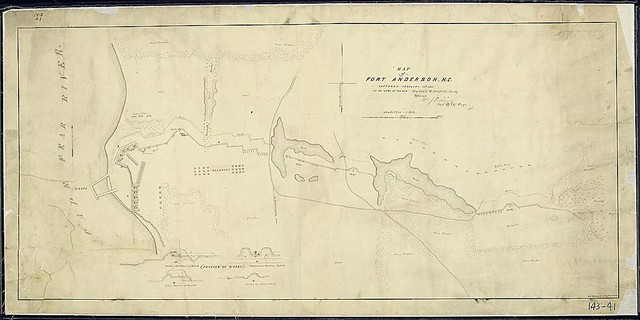 Map of Fort Anderson, N.C., captured February 19th, 1865, By the 'Army of the Ohio, Maj. Gen'. J. M. Schofield, Comd'g. H. S. Hebard, Draftsman.