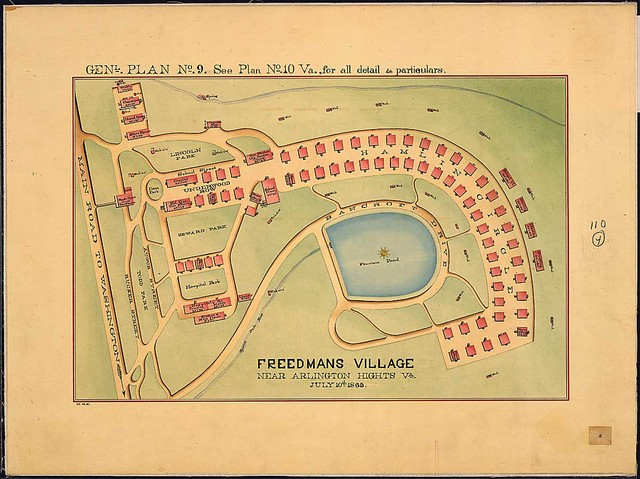 Freedmans Village near Arlington Hights, Va., July 10th, 1865. Genl. [ground] Plan No. 9.