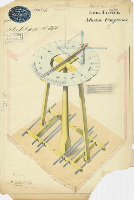Drawing of Marine Compasses