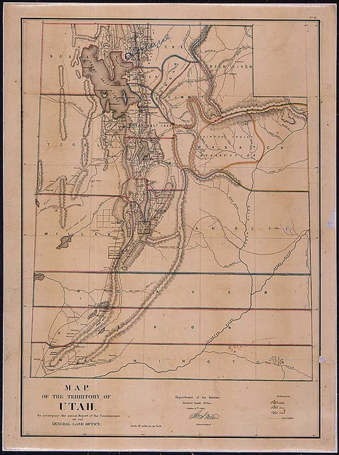 Map of Utah Territory that accompanied the annual report of the Commissioner of the General Land Office