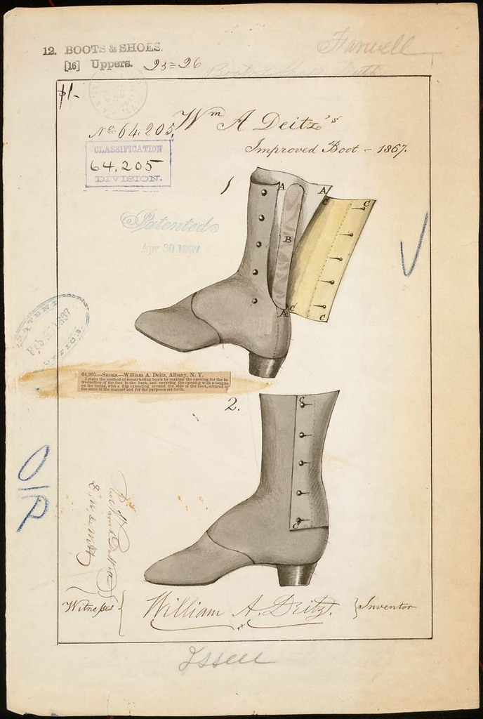 Drawing of Improved Boot