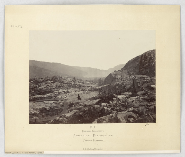 Photograph of Donner Lake Pass in the Sierra Nevada Mountains of California