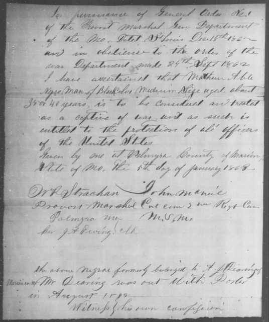 Able, Mathew - State: [Blank] - Year: 1862