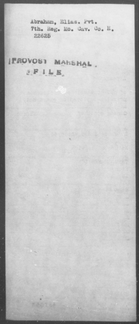 Abraham, Elias - State: Missouri - Year: [Blank]