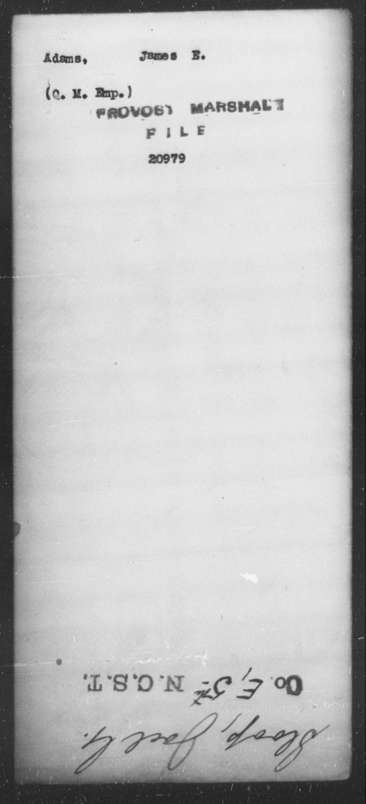 Adams, James E - State: [Blank] - Year: [Blank]
