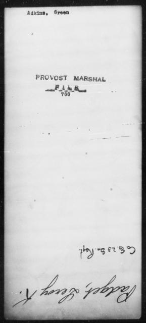 Adkins, Green - State: [Blank] - Year: [Blank]
