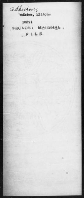 Adkisson, Milton - State: [Blank] - Year: [Blank]