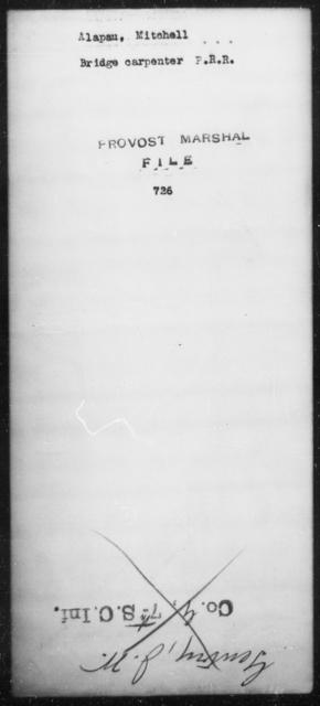 Alapau, Mitchell - State: [Blank] - Year: [Blank]