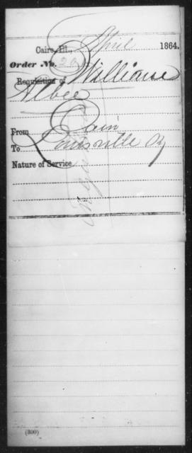 Albee, William - State: Illinois - Year: 1864