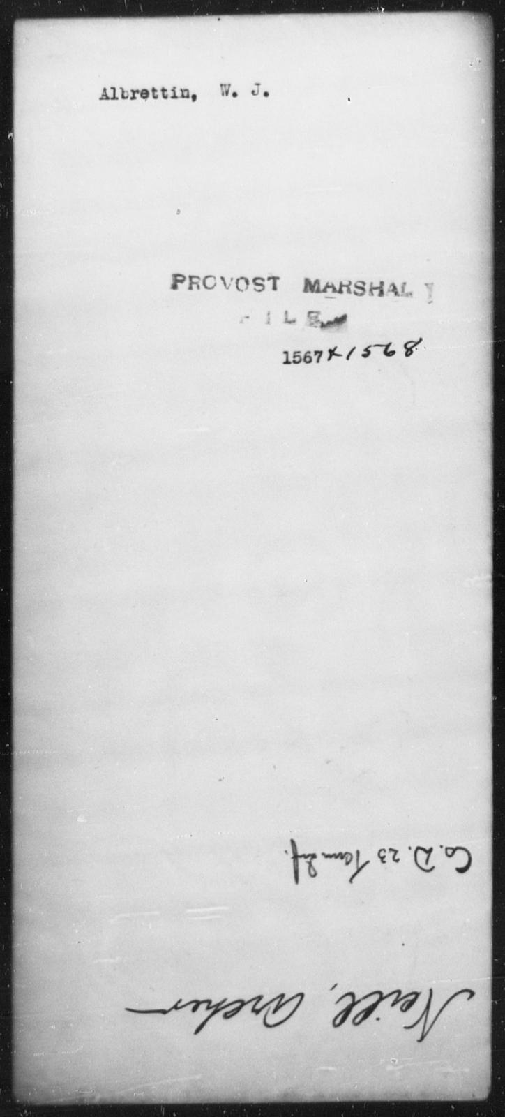 Albrettin, W J - State: [Blank] - Year: [Blank]