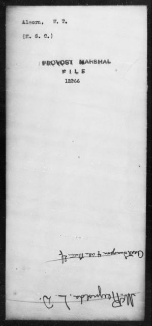 Alcorn, W T - State: [Blank] - Year: [Blank]