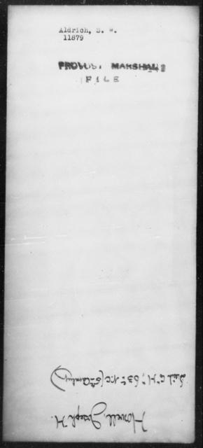 Aldrich, S W - State: [Blank] - Year: [Blank]