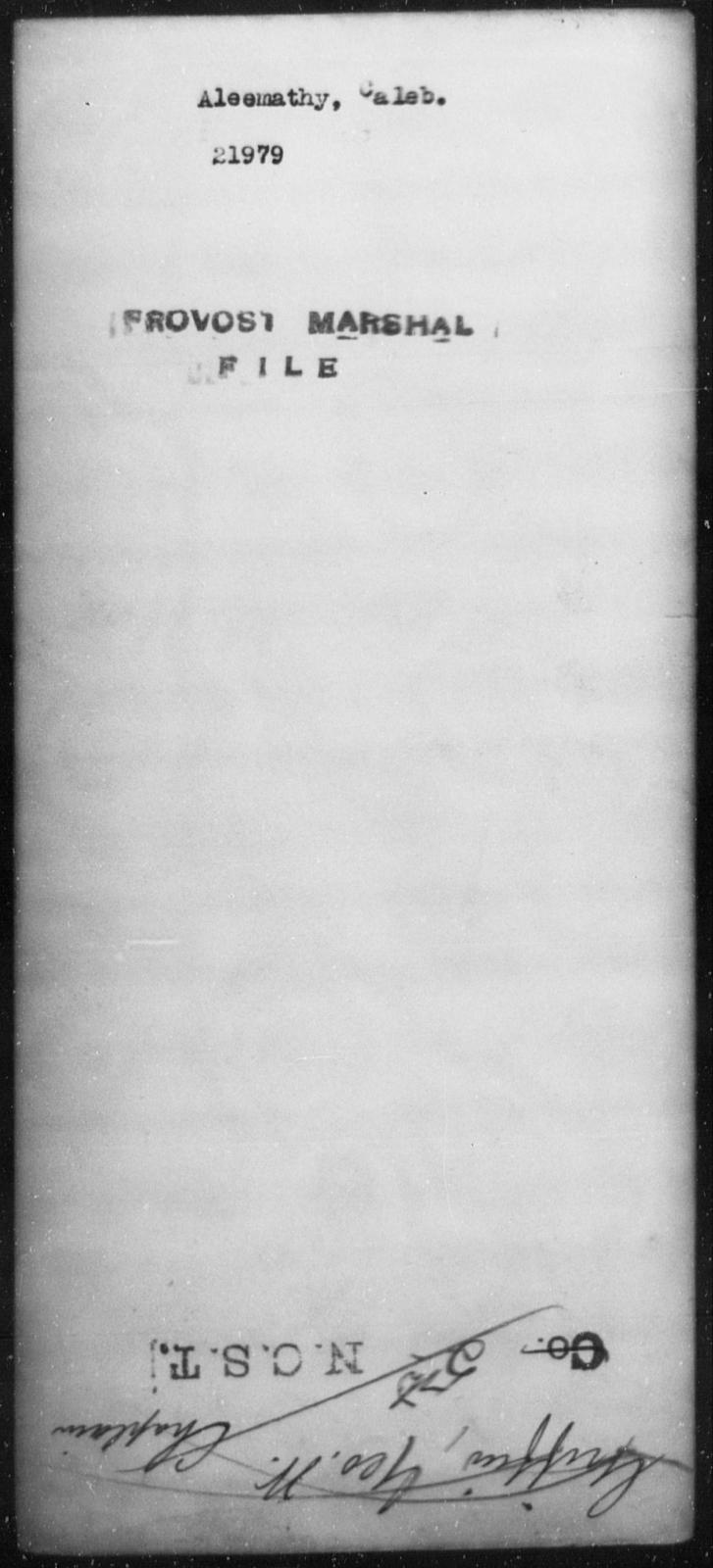 Aleemathy, Caleb - State: [Blank] - Year: [Blank]