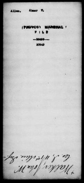 Allen, Abner W - State: [Blank] - Year: [Blank]