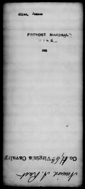 Allen, Jessee - State: [Blank] - Year: [Blank]
